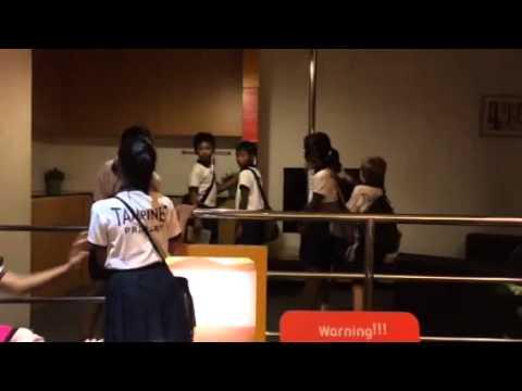 Earthquake simulator in Singapore Science Centre