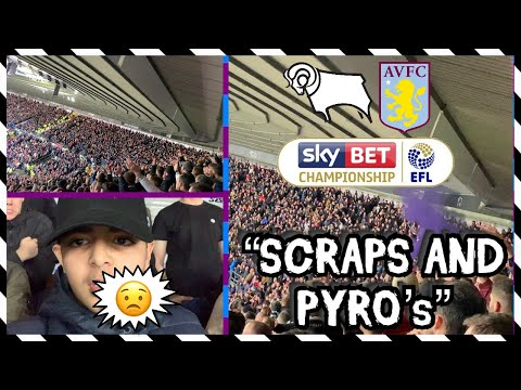 Derby County vs Aston Villa *VLOG* - Villa RUTHLESS in the last 20 minutes! *SMOKE BOMBS*