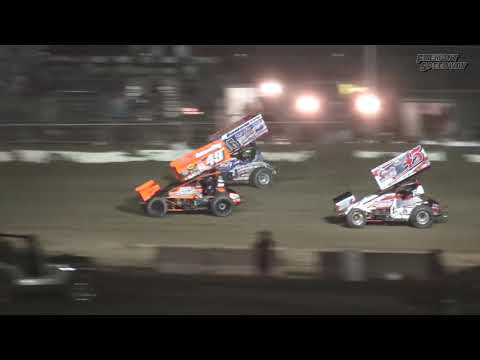 Fremont Speedway 410 Sprint Car Feature Highlights - 9/15/17