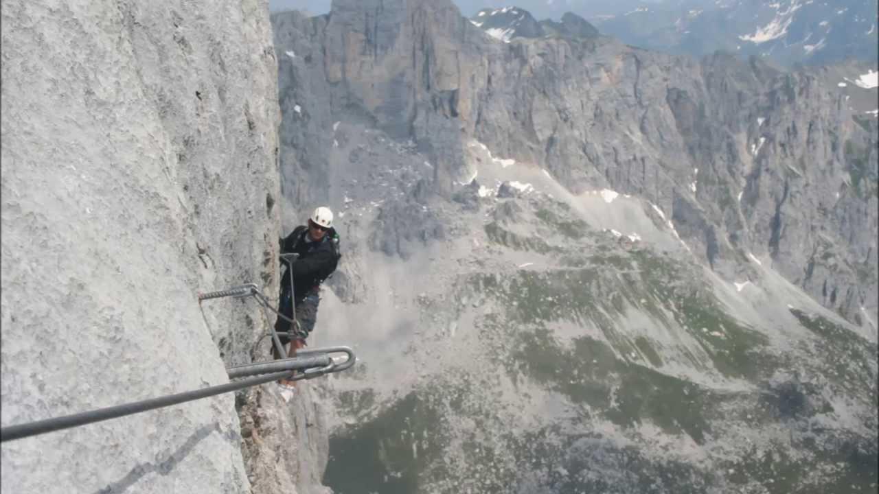 Klettersteig Sulzfluh : Sulzfluh klettersteig youtube