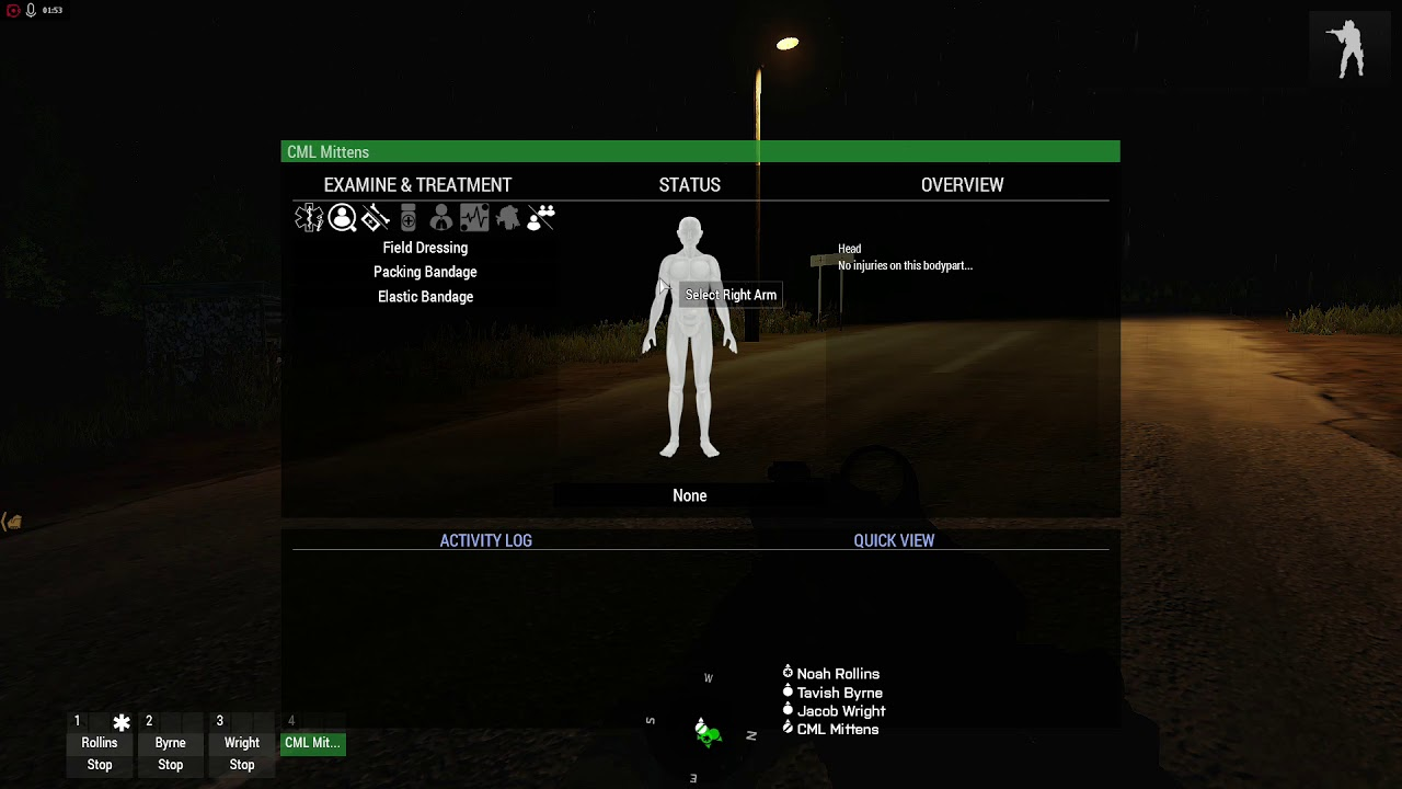 Arma 3 ACE3 Menu Configuration for quicker Medical Interactions