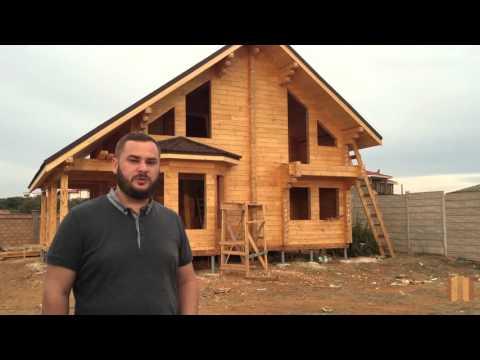 Строим дом из клеёного бруса на Фиоленте. 5 - 7я неделя. Крым, Севастополь, Ти-Арт