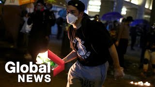Hong Kong police clash with protesters as violence surges near Polytechnic University