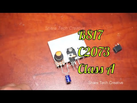 DIY Audio Amplifier Circuit 2 Transistor C2073 & B817C Extremely Powerful | Share Tech Creative