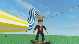 ROBLOX: THE OLD MAN WALKED SKATEBOARDING INSIDE THE GIANT BARREL!!