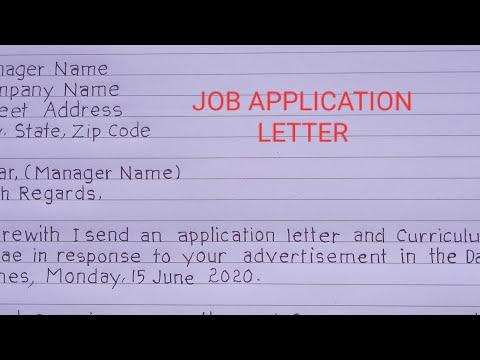 How To Write Job Application Letter (sample).