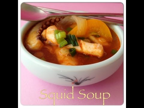 How To Clean Squid {Squid Soup Recipe} 오징어국