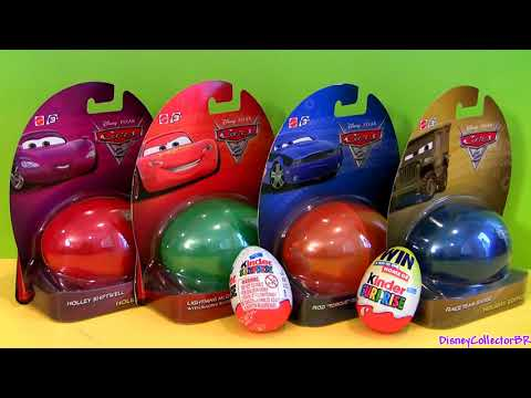 Thumbnail: Disney Surprise Eggs CARS Holiday Edition Lightning McQueen by Funtoys Disney Toy Review