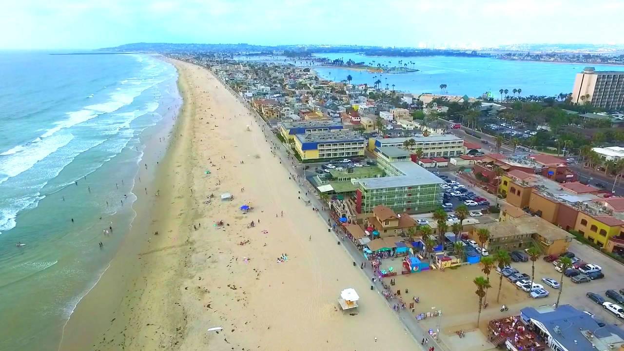 Pacific Beach San Go Drone Summer Sunset