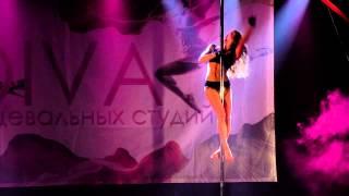 Зимний отчетный концерт по пилону 2015. Оксана Веселова.
