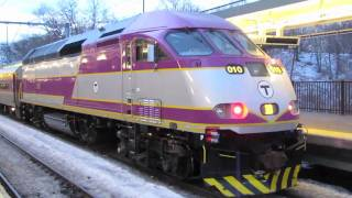 *MBTA MP36 Locomotive #010 at RT.128 Station (2/14/11)*