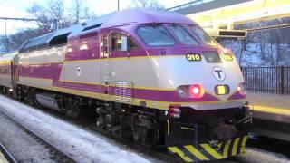 *MBTA MP36 Locomotive #010 at RT.128 Station (2/14/11)*