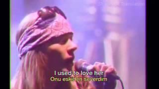 Guns N' Roses - Used to <b>Love Her</b> (Live 1988) Lyrics & Turkish ...