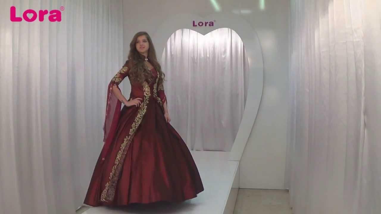 lora wedding 2014 bindallı kaftan nurbanu 55175 bordowmv