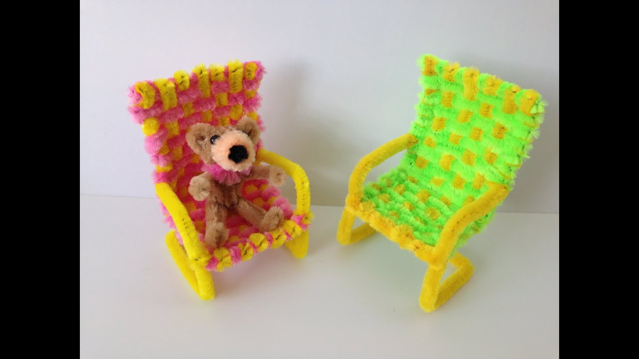 How to make a Pipe Cleaner Chair - YouTube