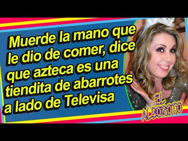 Atala se burla de TV Azteca y los minimiza comparandolos con Televisa