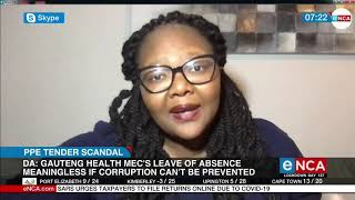 DA says MEC Bandile Masuku's leave of absence means nothing if corruption cannot be prevented