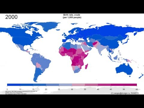 Birth rate, crude (per 1,000 people) 1960-2013