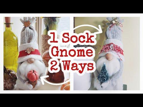 DIY Sock Gnome    Fall & Christmas DIY