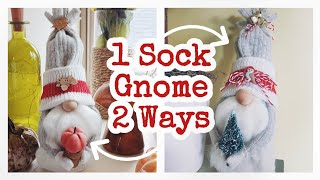 DIY Sock Gnome || Fall & Christmas DIY