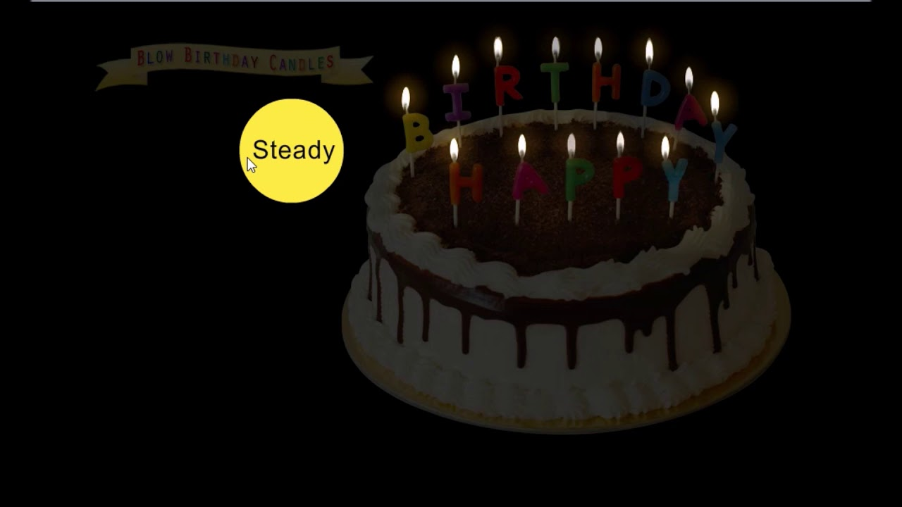 Virtual Candles Birthday Cake Blowing