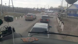 Убитый железнодорожный переезд в Ульяновске