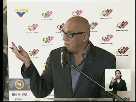 Ministro Jorge Rodríguez, rueda de prensa, 22 noviembre 2017
