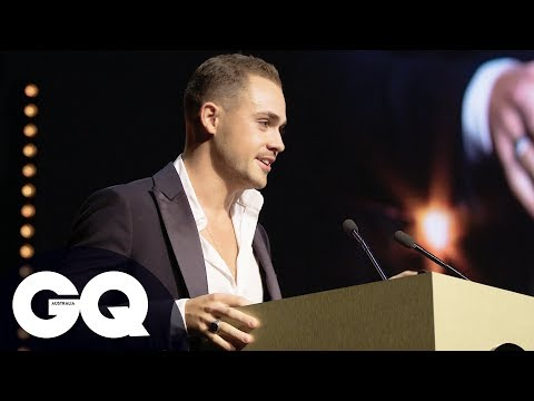 Dacre Montgomery Collects GQ Award To Rock And Roll And Applause