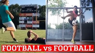 Football vs Soccer Trick Shots & Freestyle Skills | PEOPLE ARE AWESOME
