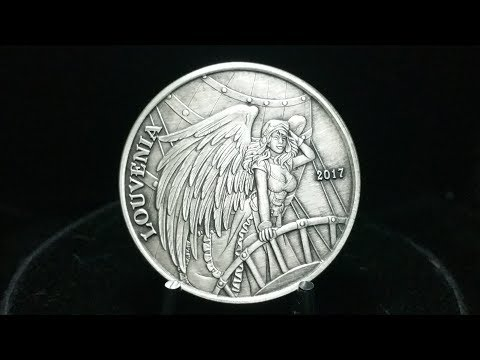 Angels And Demons Louvenia 2017 1 Oz Silver Antique Round
