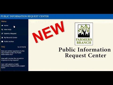 Public Information Request Portal 2016