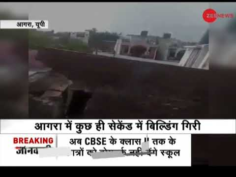 Double-storey building falls in Agra, UP