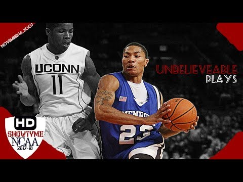 Derrick Rose Full Highlights vs Uconn 16.11.2007 - 24 Pts 6 Rebs, UNBELIEVEABLE Finishes!