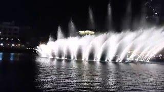 Dubai, fountain, 2016 new year