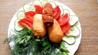 Рулетики  с беконом и сыром  зажаренные во фритюрнице GFGril   ОООчень вкусно