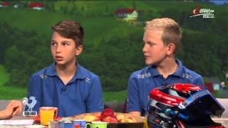 Lukas Dunner und Nic Schöll live auf Serus TV, Euro der 8-13 Jährigen in der Speedworld