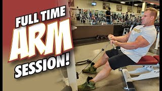 FULL TIME ARM SESSION WITH THE FULL TIME BODYBUILDER.