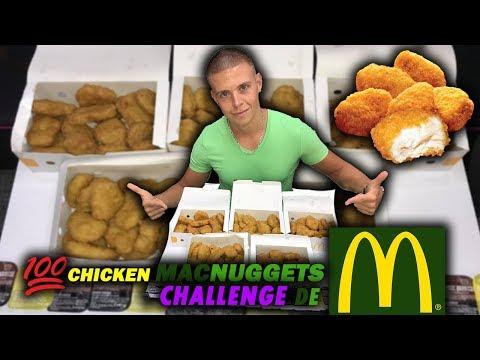 100 CHICKEN MCNUGGETS CHALLENGE de McDonald's !!!