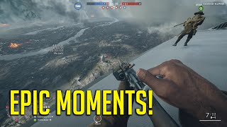 Battlefield 1 EPIC Moments! Sniping On A Behemoth!