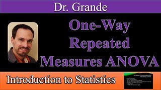 Introduction to One-Way Repeated Measures ANOVA (Within-Subjects ANOVA)