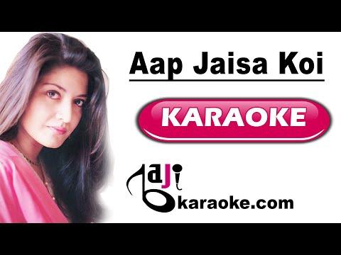 Aap jaisa koi meri zindagi aaye - Video Karaoke - Nazia Hassan - by Baji Karaoke