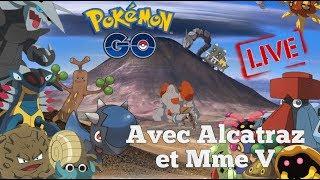Pokemon GO LIVE  : Les nouveautés avec Alcatraz & Mme V