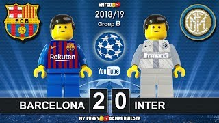 Barcelona vs Inter 2-0 • Champions League 2019 (24/10/2018) All Goals Highlights Lego Football