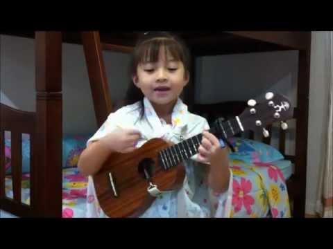 ร่มสีเทา Cover by น้องเกล Gail Sophicha ukulele