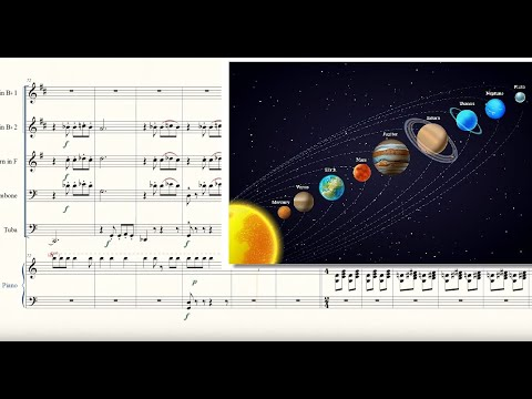 The Planets: Full Suite for Brass Quintet and Piano Sheet Music