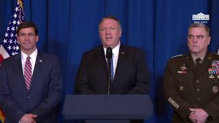 Press Briefing by Secretary of State Mike Pompeo and Secretary of Defense Mark Esper