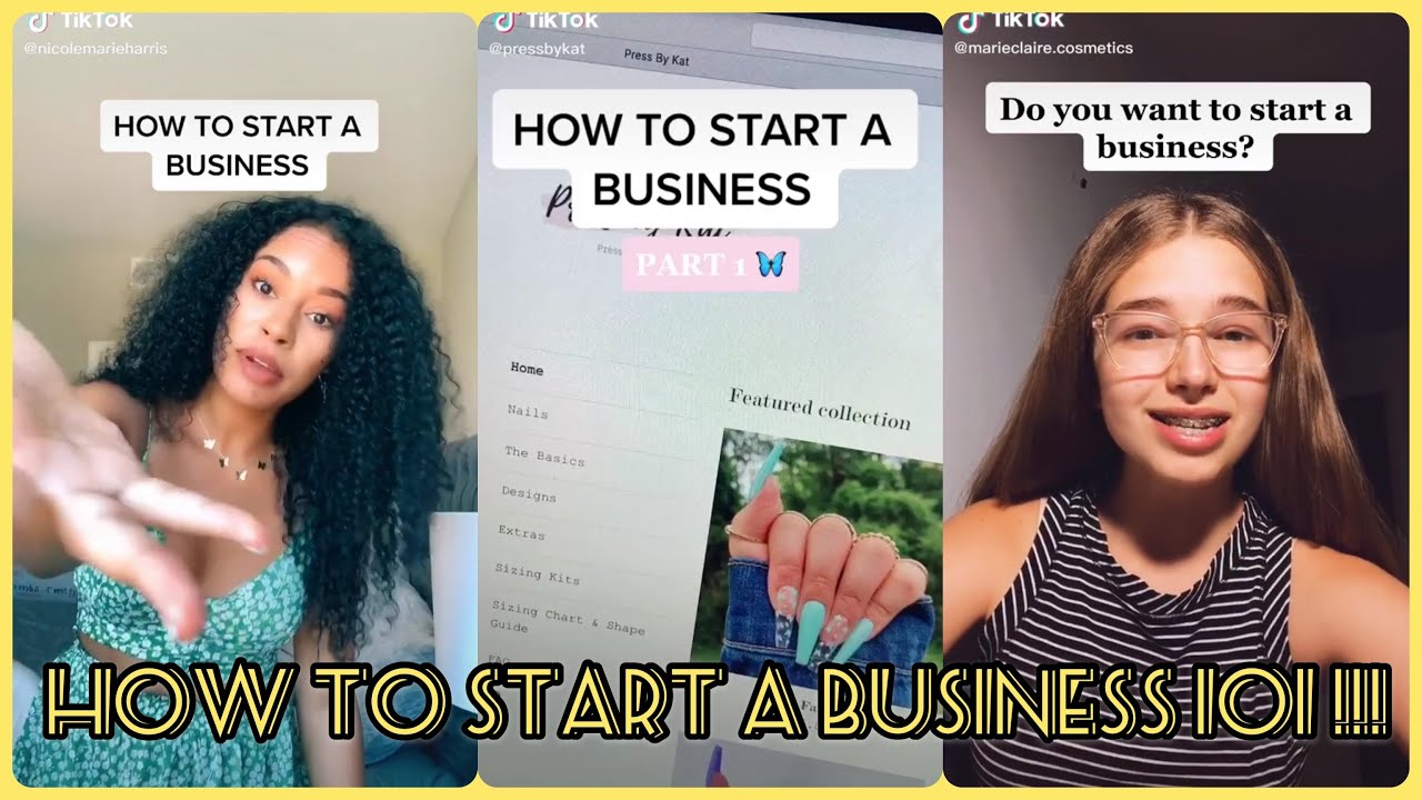 How To Start a Small Business 101 | TikTok Compilation 2020