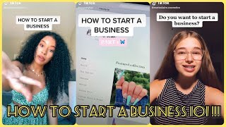 How To Start a Small Business 101   TikTok Compilation 2020