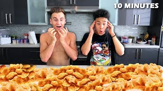 Eating 100 Chicken Nuggets In 10 MINUTES!! *Extreme*