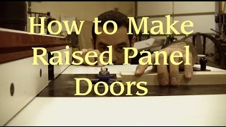 29 - How To Make A Raised Panel Door